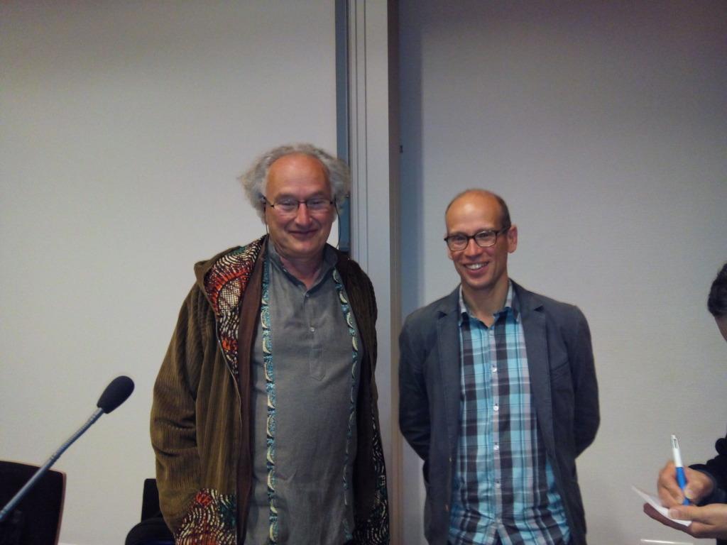 Fabien Malbet , astrophysicien IPAG en compagnie de Pierre-Jean Mercier (vice-président et consultant scinetifique de la SAT)